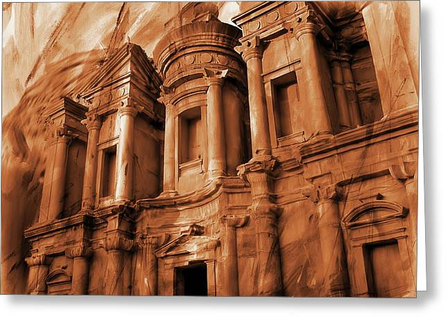 The Ancient Treasury Petra Greeting Card by Gull G