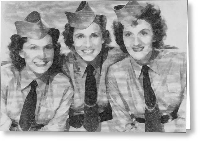 The Andrews Sisters Greeting Card by John Springfield