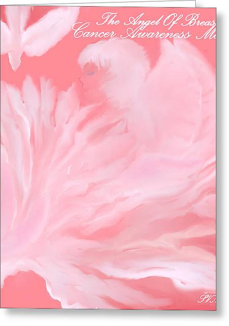 Digital Art Greeting Cards - The Angel Of Breast Cancer Month Greeting Card by Sherri  Of Palm Springs