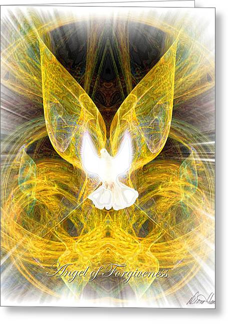The Angel Of Forgiveness Greeting Card