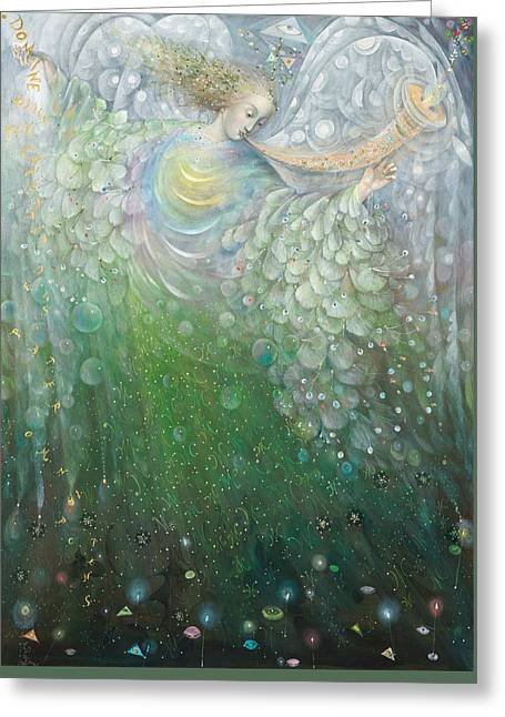The Angel Of Growth Greeting Card by Annael Anelia Pavlova
