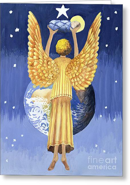 The Angel Of The World Greeting Card