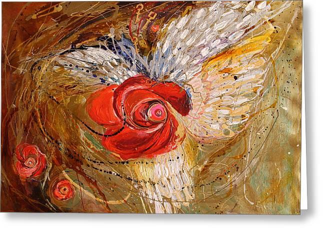 The Angel Wings #7. Mistery Of Three Keys Greeting Card by Elena Kotliarker