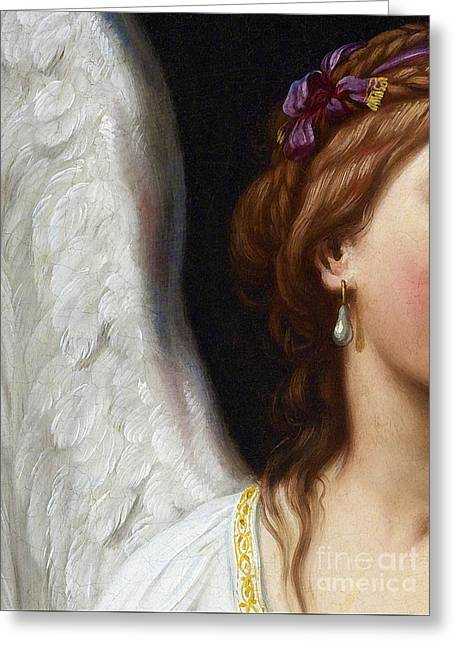 The Angel With The Pearl Earring Closeup Greeting Card