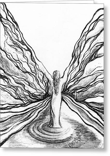 The Angel Within  Greeting Card by Mikel Zuiderveen