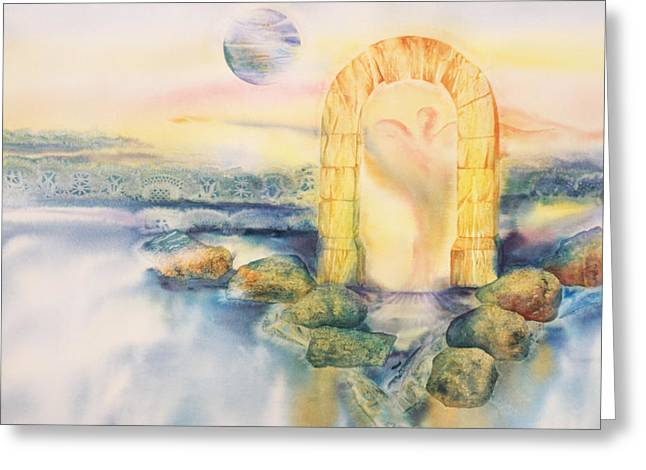 The Angel Within Greeting Card by Tara Moorman
