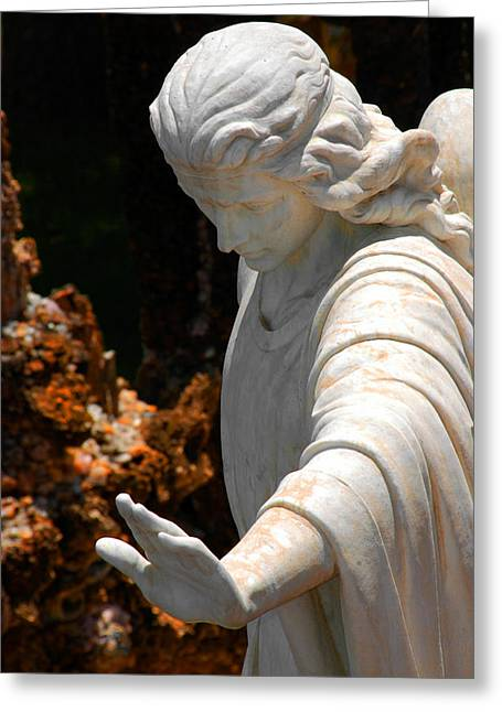 The Angels Warning Greeting Card by Susanne Van Hulst