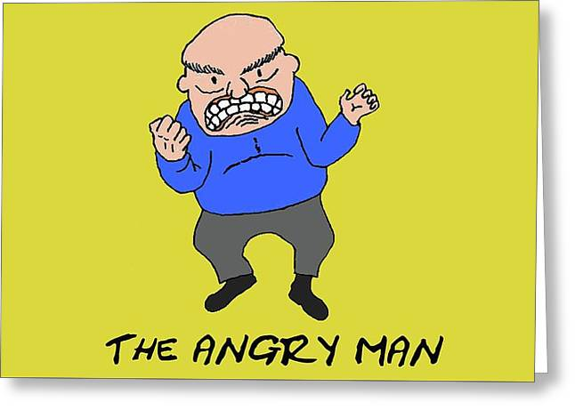 The Angry Man Greeting Card by Richard Bennett