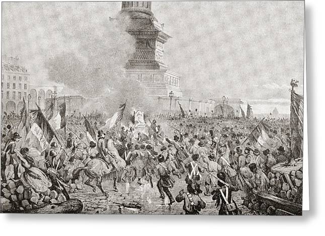 The Angry Paris Mob Burning The Royal Greeting Card