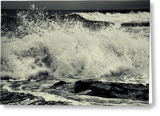 The Angry Sea Greeting Card