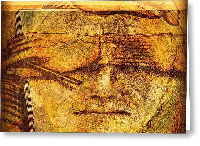The Anguish Of The Return Lives In Your Eyes Greeting Card by Paulo Zerbato