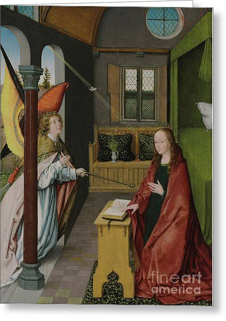 The Annunciation Greeting Card by Jan Provost