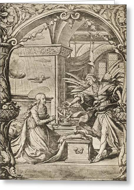 The Annunciation To The Madonna Reduced Greeting Card