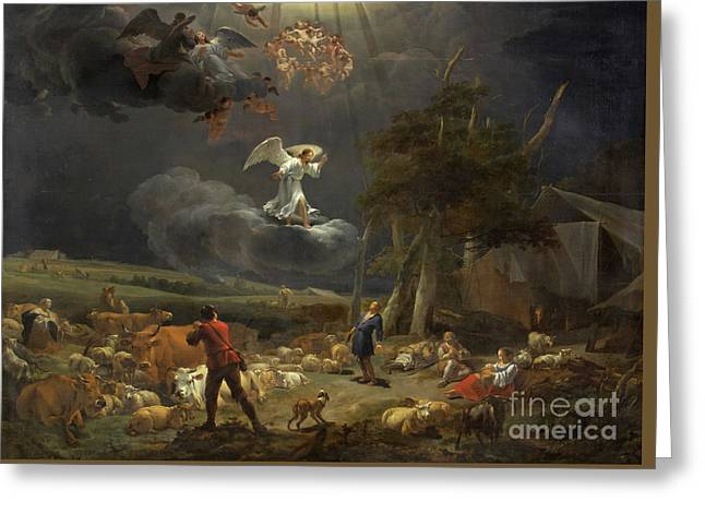 The Annunciation To The Shepherds Greeting Card