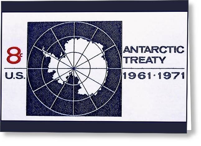 The Antarctic Treaty Stamp Greeting Card