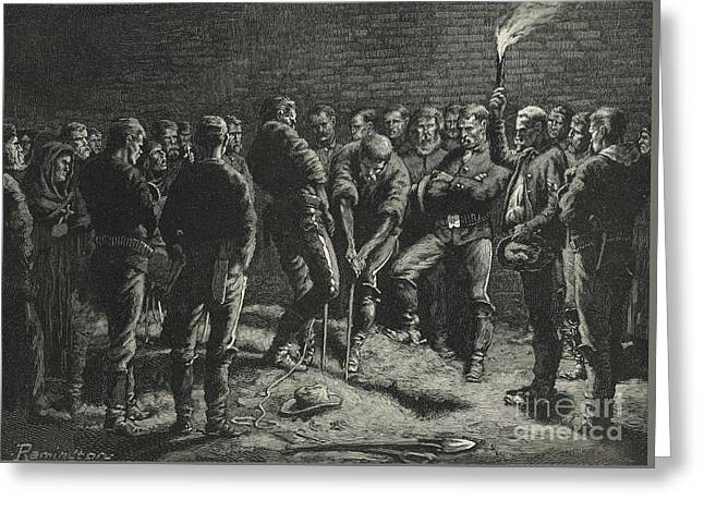The Apache Campaign  Burial Of Hatfield's Men Greeting Card