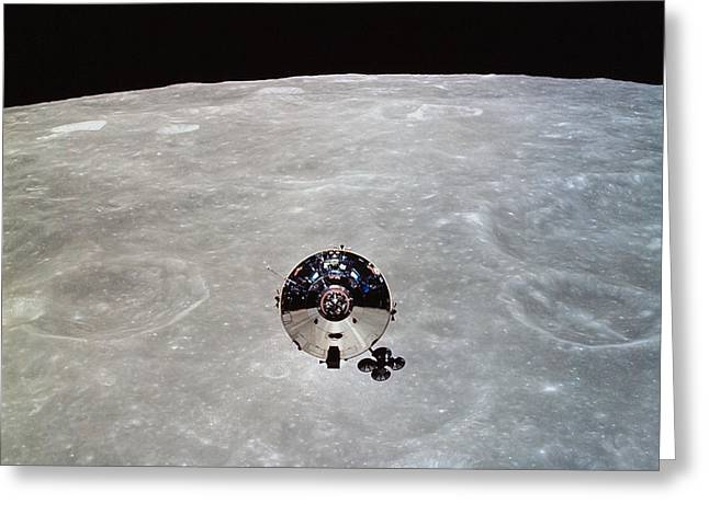 Craters Greeting Cards - The Apollo 10 Command And Service Greeting Card by Stocktrek Images