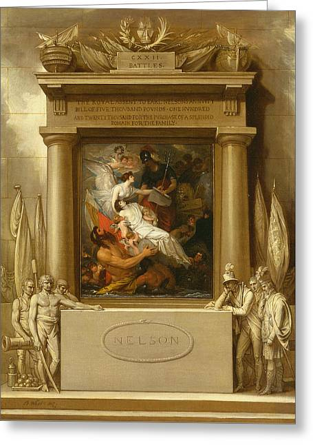 The Apotheosis Of Nelson Greeting Card
