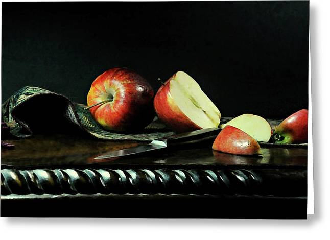 The Apple Core Greeting Card by Diana Angstadt