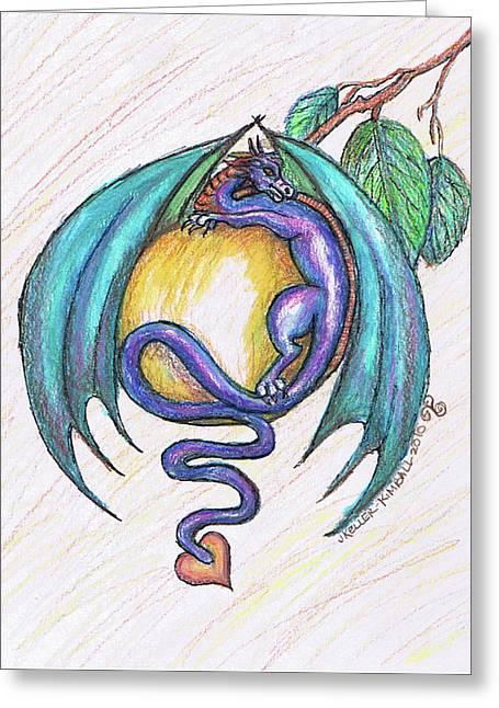 The Apple Dragon Greeting Card