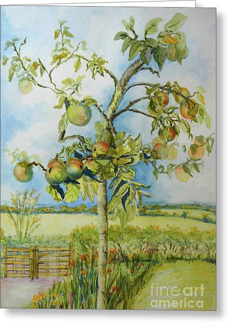 The Apple Tree Greeting Card by Joan Thewsey