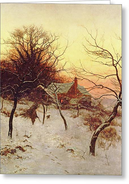 The Approach Of A Winter's Night Greeting Card