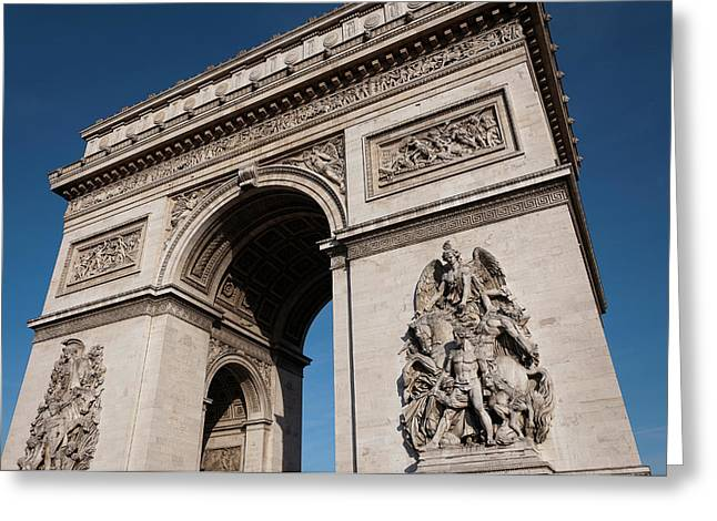 The Arc De Triomphe Greeting Card by D Plinth
