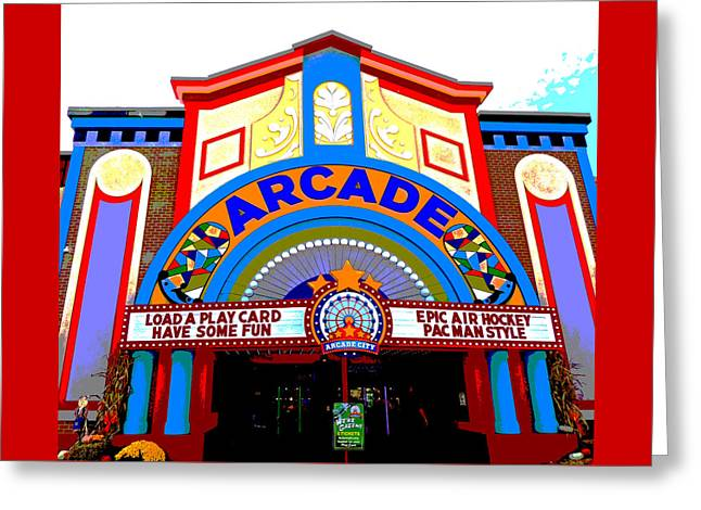 The Arcade Greeting Card by Marian Bell