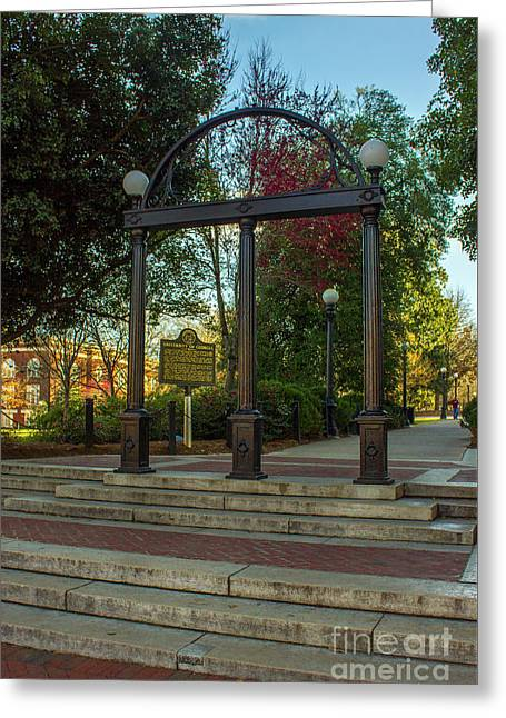 The Arch 3 University Of Georgia Arch Art Greeting Card by Reid Callaway