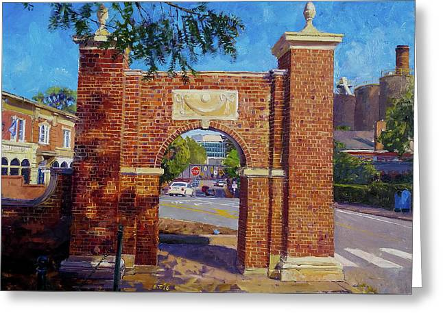 The Arch At The Corner Greeting Card