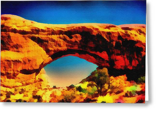The Arch Greeting Card by John Winner