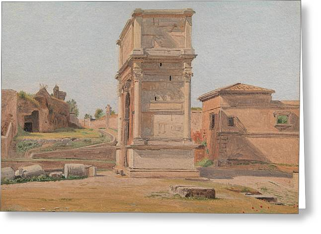 The Arch Of Titus In Rome, 1839 Greeting Card by Carl Christian Constantin Hansen