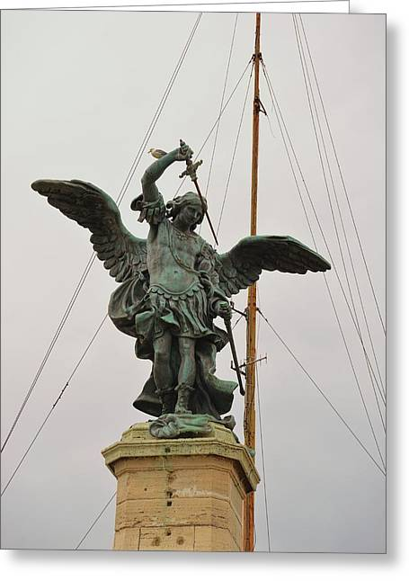 The Archangel Michael Greeting Card by JAMART Photography