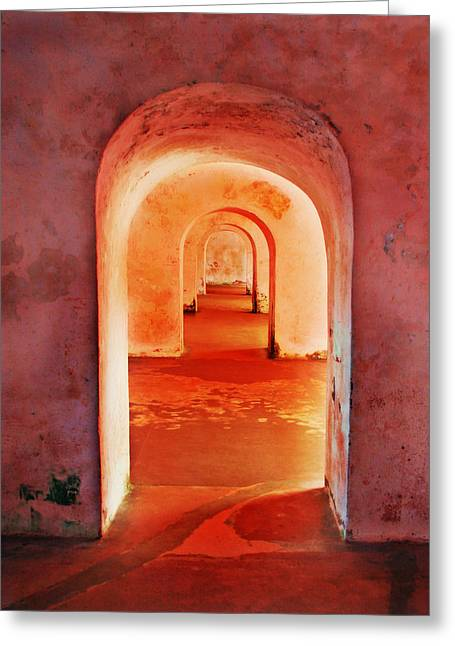 The Arches Greeting Card by Perry Webster