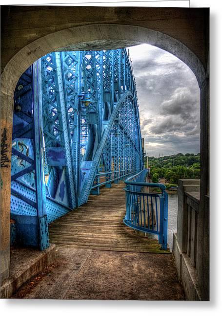 The Archway Market Street Bridge John Ross Bridge Art Greeting Card