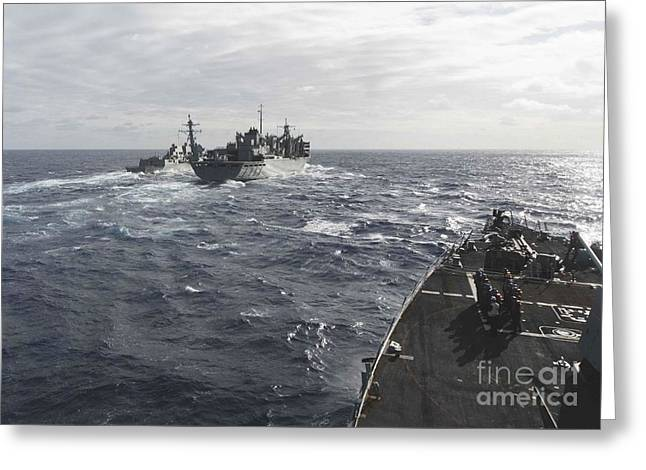 The Arleigh Burke-class Guided-missile Destroyers Greeting Card
