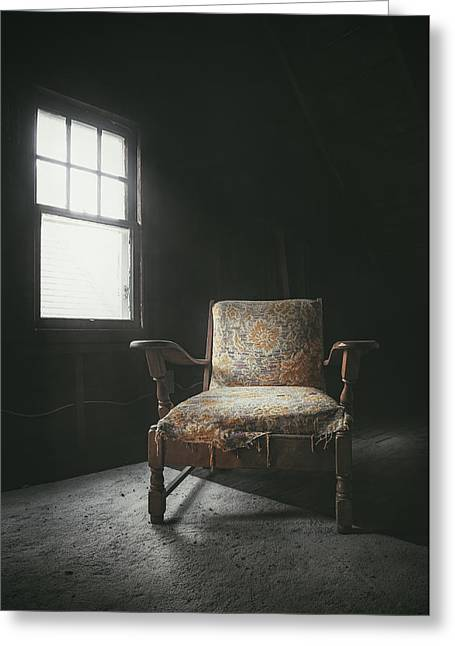 The Armchair In The Attic Greeting Card by Scott Norris