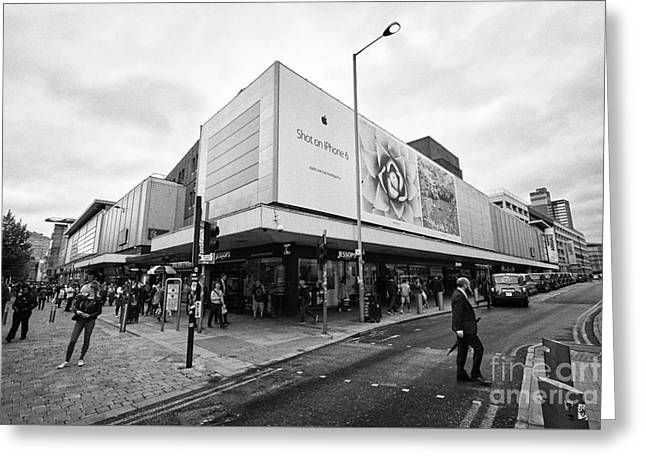 The Arndale Shopping Centre And Junction Of High Street And Market Streets Manchester England Uk Greeting Card by Joe Fox