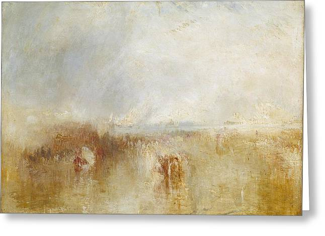 The Arrival Of Louis Greeting Card by Joseph Mallord William Turner