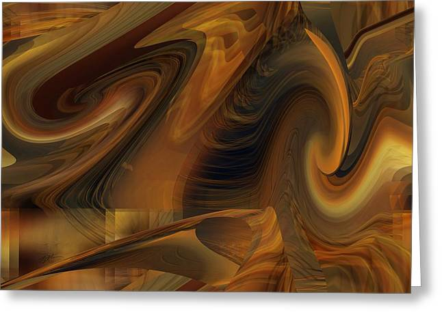 The Art Abstract Greeting Card