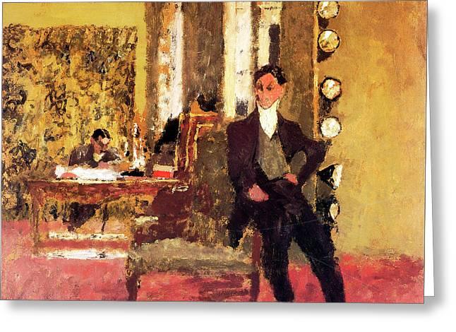 The Art Dealers Greeting Card by Edouard Vuillard