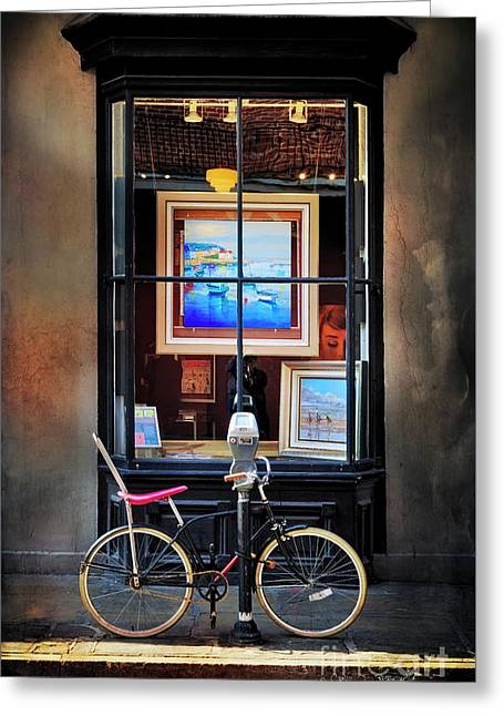 Greeting Card featuring the photograph The Art Gallery Bicycle by Craig J Satterlee