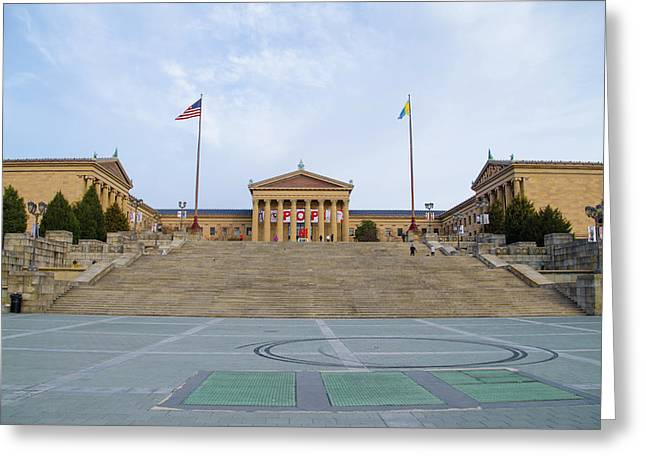 The Art Museum In Philly Greeting Card by Bill Cannon