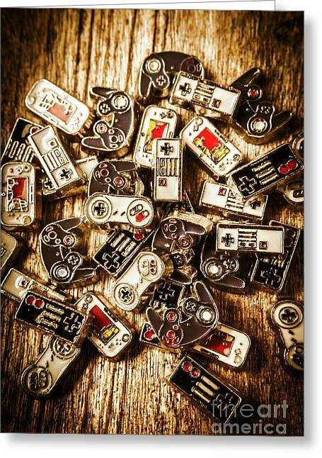 The Art Of Antique Games Greeting Card