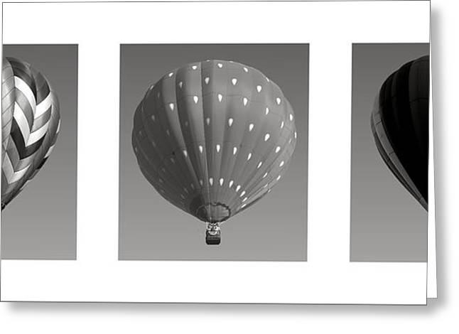 The Art Of Ballooning Three Greeting Card
