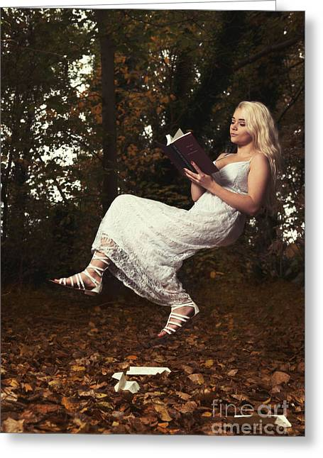 The Art Of Levitation Book Greeting Card by Amanda Elwell