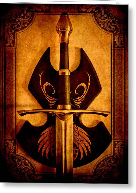 Fabrication Greeting Cards - The Art of War - Eternal Portrait of a Warrior Greeting Card by Loriental Photography
