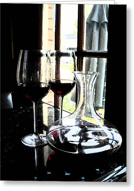The Art Of Wine Greeting Card by Alicia Morales