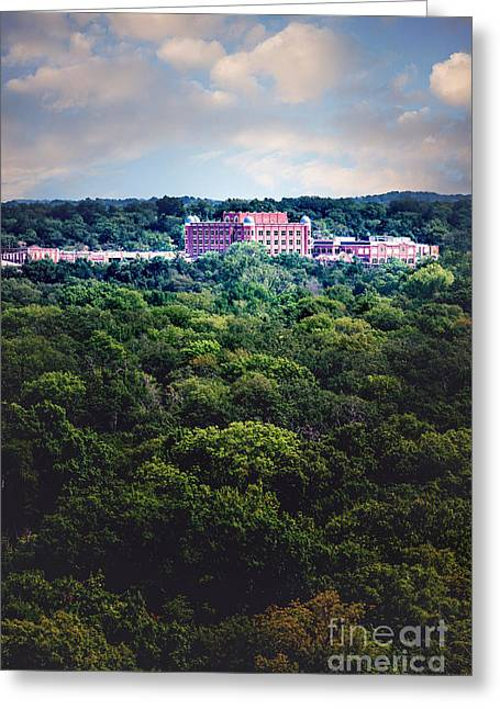 The Artesian Hotel In The Forest In Vertical Greeting Card