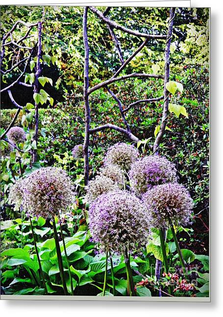 The Artful Garden Greeting Card by Sarah Loft